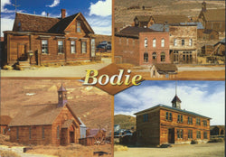 Bodie Town Buildings Postcard-QTY=50