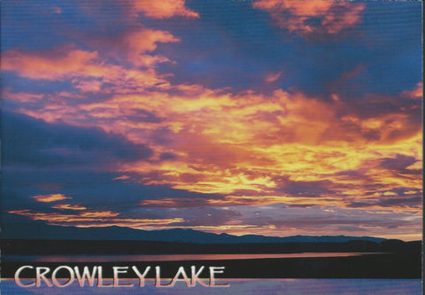 Crowley Lake Sunset Postcard-QTY=50