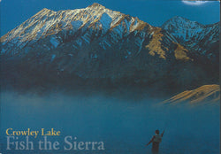 Fish The Sierra Crowley Lake Postcard-QTY=50