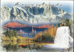 Sierra Nevada Waterfall Postcard