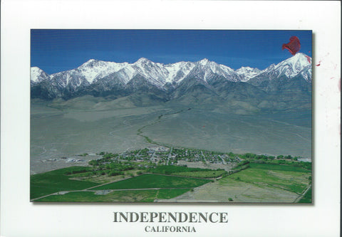 Independence California Aerial Postcard-QTY=50