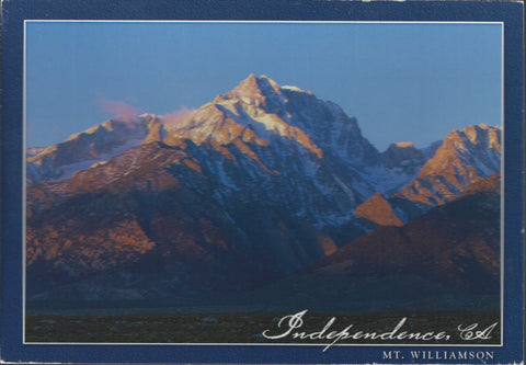 Mt. Williamson Independence California Postcard-QTY=50