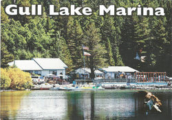 Gull Lake Marina Postcard