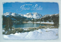 Winter June Lake Postcard