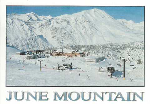 June Mountain Ski Postcard-QTY=50