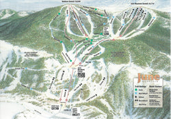 June Mountain Ski Trails Postcard