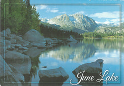 June Lake Winter Postcard