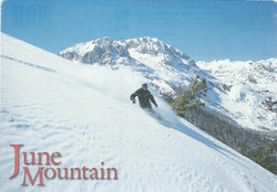 June Mountain Snowboarding Postcard