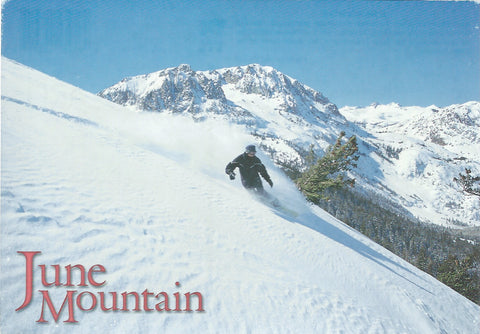 June Mountain Snowboarding Postcard-QTY=50