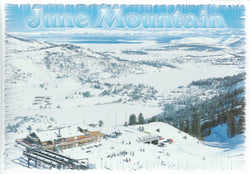 June Mountain Snow Postcard