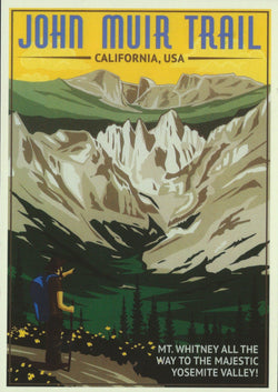 Retro John Muir Trail Postcard