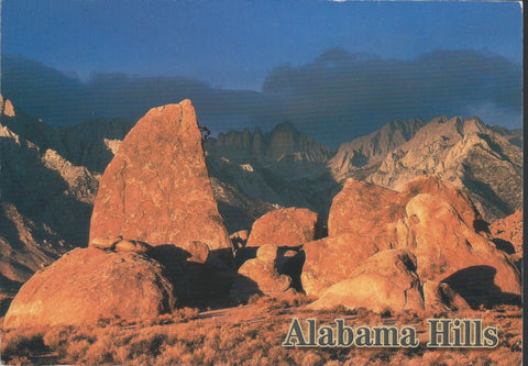 Alabama Hills Sunset Postcard-QTY=50