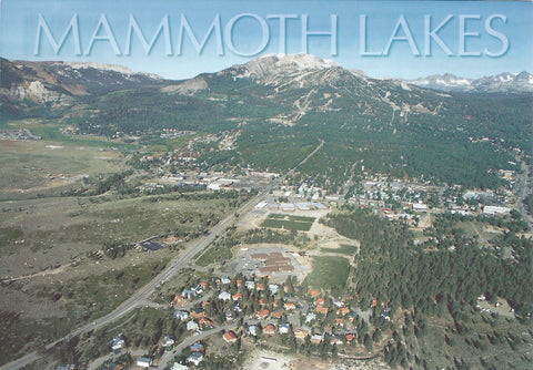 Mammoth Lakes Aerial Town Postcard-QTY=50