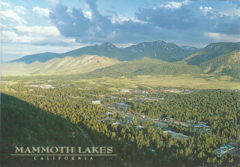 Mammoth Lakes Aerial View Postcard-QTY=50