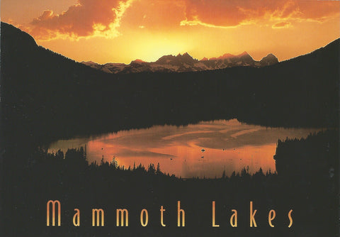 Mammoth Lakes Sunset Postcard-QTY=50