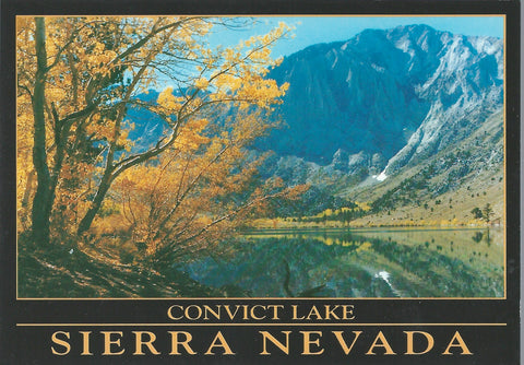 Mammoth Convict Lake Fall Postcard-QTY=50