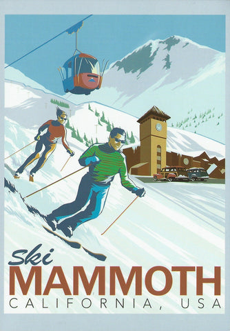 Retro Mammoth Main Lodge Postcard