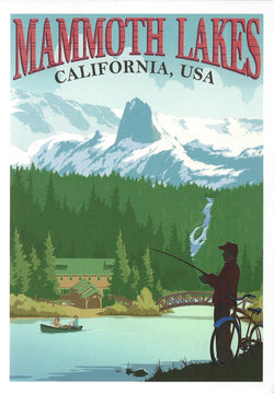 Retro Mammoth Lakes Postcard