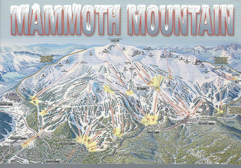 Mammoth Mountain Ski Trail Postcard-QTY=50