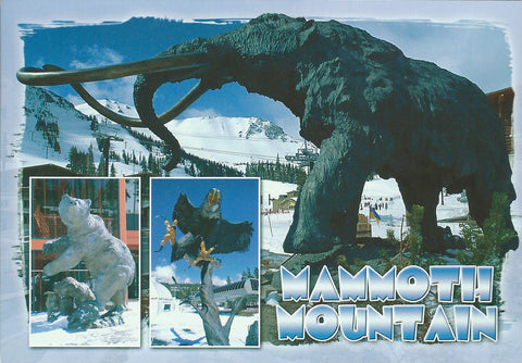 Winter Mammoth Statue Postcard-QTY=50