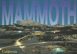 Mammoth Lakes Winter Night Postcard