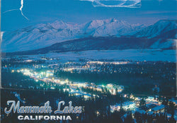Mammoth Lakes Night Lights Winter Postcard