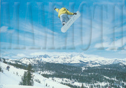 Mammoth Big Snowboard Air Postcard