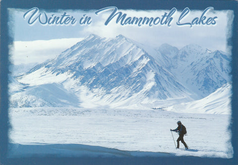 Winter In Mammoth Lakes Postcard-QTY=50