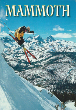 Mammoth Cross Skis Postcard