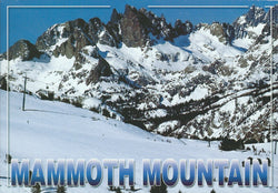 Mammoth Mountain Range Postcard