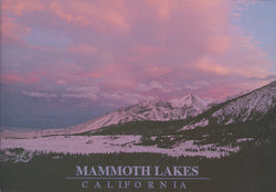 Mammoth Lakes Pink Winter Sky Postcard