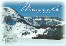 Mammoth Lakes Winter Mountain Side Postcard