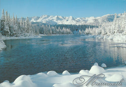 Mammoth Frozen Winter Lake Postcard