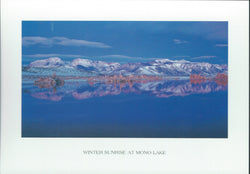 Mono Lake Winter Sunrise Postcard