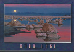 Mono Lake Moon Postcard