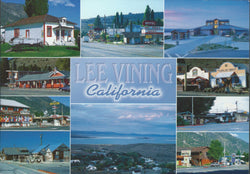 Lee Vining CA Postcard