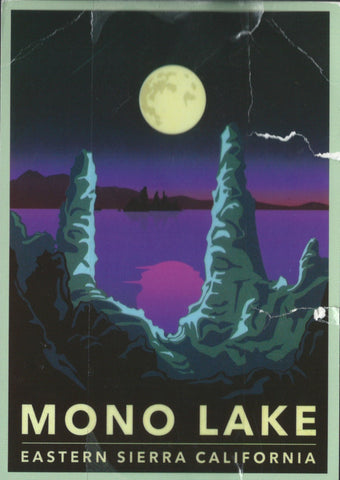 Retro Mono Lake Postcard
