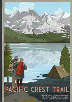 Pacific Crest Trail Retro Postcard