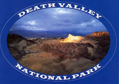 Death Valley Sticker Postcard