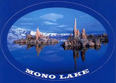 Mono Lake Sticker Postcard