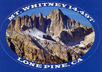 Mt. Whitney Sticker Postcard