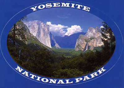 Yosemite Sticker Postcard