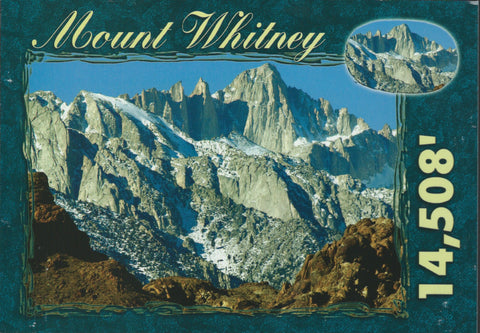 Mt. Whitney Elevation Postcard 2-QTY=50