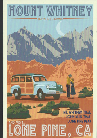 Retro Mt. Whitney Postcard-QTY=50