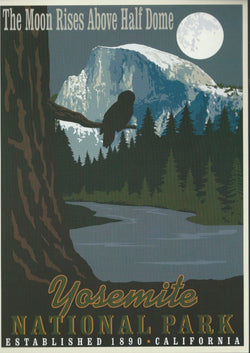 Retro Yosemite Postcard-QTY=50