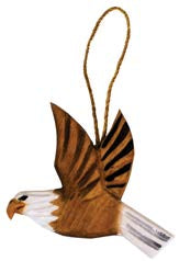 Carved Wood Eagle Ornament with Regional Name Drop