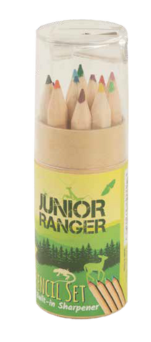 Junior Ranger Colored Pencil Set with Sharpener