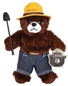 Smokey Bear Plush-8""