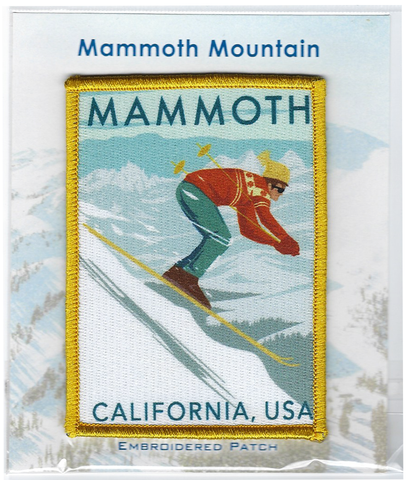 Mammoth Retro Skier Patch
