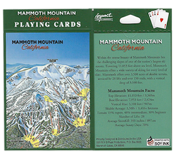 Mammoth Mountain Ski Trail Playing Cards